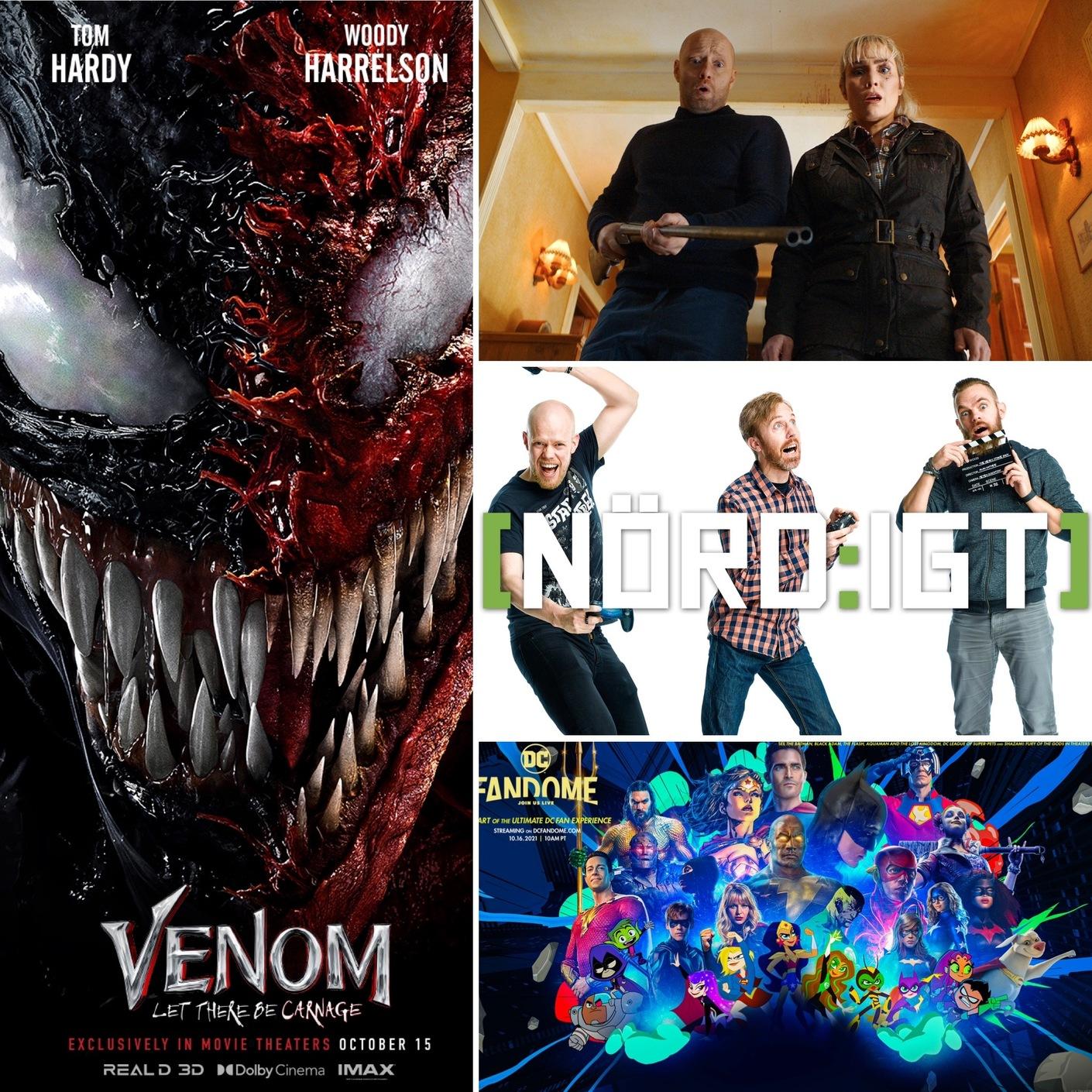 345. Den med en massa nyheter om DC, Venom: Let There Be Carnage samt I Död och Lust